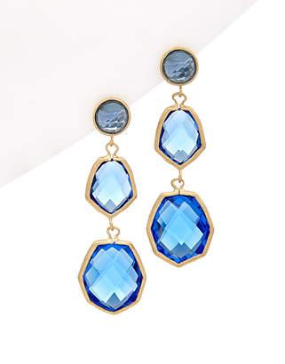 Rivka Friedman 18K Clad Crystal Deco Drop Earrings