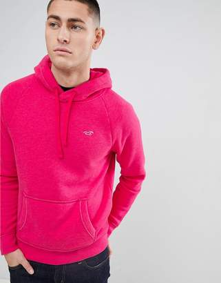 Hollister Icon Logo Hoodie in Bright Pink