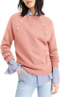 J.Crew Sweater with Jeweled Buttons