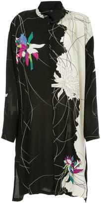 Y's floral print shirt dress