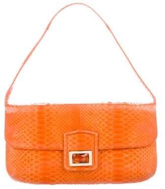 Kara Ross Python Embellished Shoulder Bag