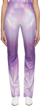 Saks Potts Purple Lissi Shimmer Trousers