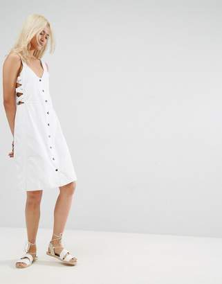 Asos Design Lattice Side midi dress