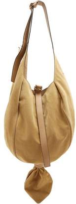 Jw Anderson - Knot Suede And Leather Hobo Bag - Womens - Beige