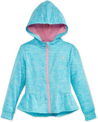 Champion Space-Dye Peplum Hoodie, Toddler & Little Girls (2T-6X) $26 thestylecure.com