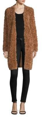 M Missoni Furry Open-Front Coat