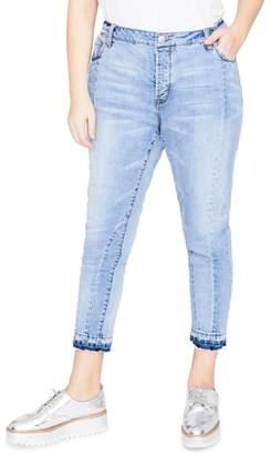 Rachel Roy Curvy Seamed Crop Jeans