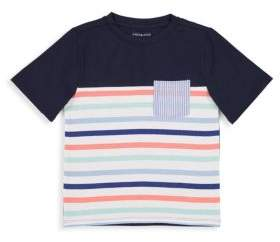 Andy & Evan Little Boy's Multi-Striped Seersucker Pocket Tee