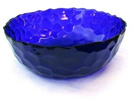 Red Pomegranate SET OF 4 HIVE SOUP BOWLS SAPPHIRE