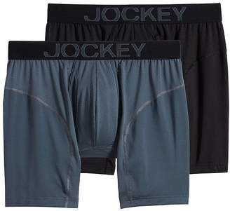Jockey 2 Pair Athletic RapidCool Boxer Briefs - Men's