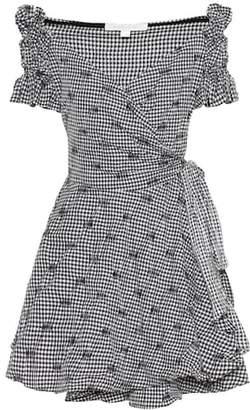 Jonathan Simkhai Embroidered check minidress