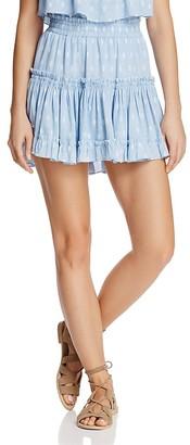 MISA Los Angeles Marion Ruffled Mini Skirt $216 thestylecure.com