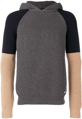 DSQUARED2 colourblock knit hoodie