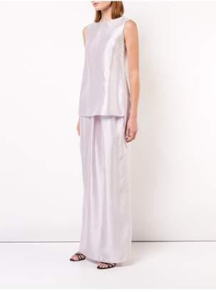 ADAM by Adam Lippes Iridescent Silk Shell With Cross Back