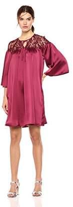Wild Meadow Women's 3/4 Bell Sleeve Boho Babydoll Dress XS