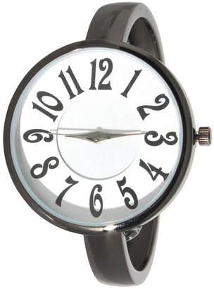 1ddca7b4f Women Artsy Large Face Thin Band Cuff Bangle Watch 40mm
