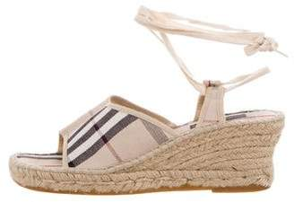 Burberry House Check Espadrille Sandals