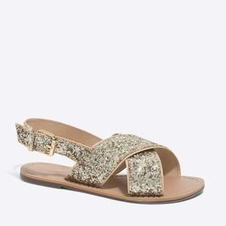 J.Crew Factory Girls' glitter sandals