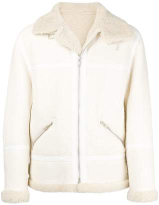 Givenchy boxy shearling jacket