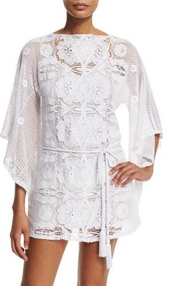 Miguelina Claudia Floral-Crochet Coverup Dress $530 thestylecure.com
