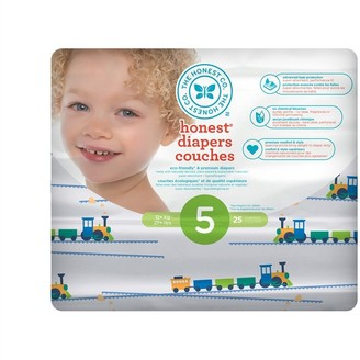The Honest Company Diapers, Size 5, Trains