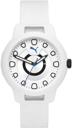 Puma Men Reset Silicone Strap Watch 44mm