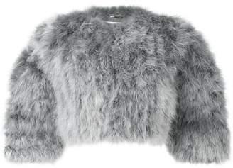 Alberta Ferretti cropped feather jacket