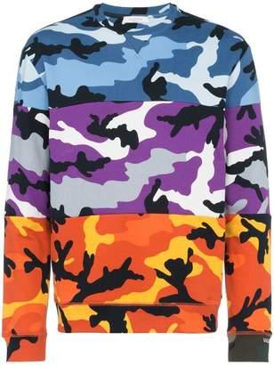 Valentino camouflage print cotton blend sweatshirt
