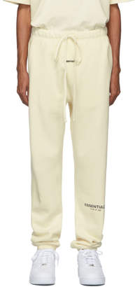 Essentials Off-White Reflective Logo Lounge Pants