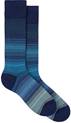 Paul Smith Men's Striped Cotton-Blend Mid-Calf Socks $30 thestylecure.com