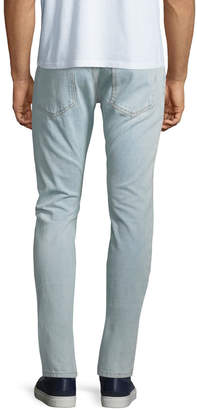 Valentino Men's Faded Straight-Leg Denim Jeans