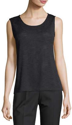 Caroline Rose Plus Size Solid Knit Gauze Tank