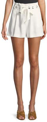 Parker Vale Pleated Grommet Shorts