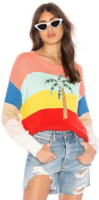 Wildfox Couture Cayman Palm Iris Sweater