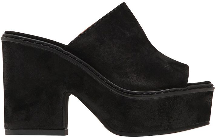 Janet & Janet Janet&janet 80mm Suede Mules
