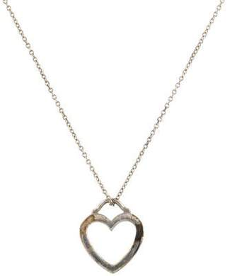 Tiffany & Co. Outline Heart Pendant Necklace