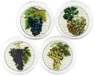 John Derian Set of 4 Découpage Grape Coasters