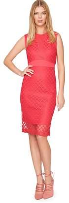 Damsel in a Dress Red Grid Lace Dress
