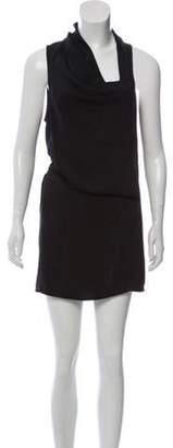 Helmut Lang Sleeveless Sash Tie Dress w/ Tags Black Sleeveless Sash Tie Dress w/ Tags