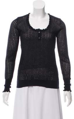 3.1 Phillip Lim Wool Long Sleeve Knit Top