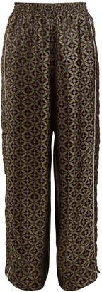 Golden Goose Wide-leg geometric-jacquard trousers