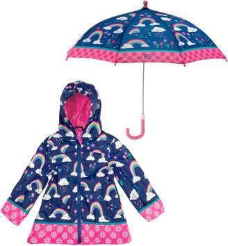 Stephen Joseph Unicorn Raincoat & Umbrella Set