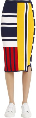 Patchwork Viscose Knit Skirt Gigi Hadid $150 thestylecure.com
