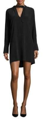 Joie Cadence Buckle Tie Silk Mini Dress