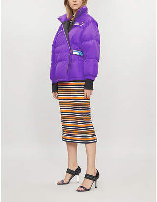 Prada Logo-patch nylon-down puffer jacket