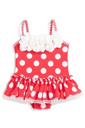 Infant Girl's Little Me Big Dot One-Piece Swimsuit $29.50 thestylecure.com