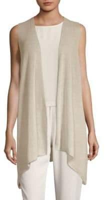 Eileen Fisher Asymmetrical Open Vest