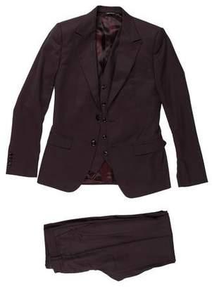 Dolce & Gabbana Wool Three-Piece Suit