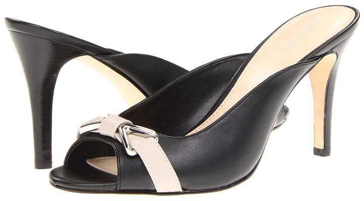 Calvin Klein Kalah (Black/Oatmeal Shiny S Nappa) - Footwear