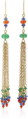 Mallary Marks Dancing Confetti 18K Gold Multi-Stone Earrings